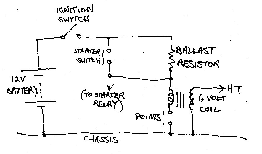6 volt coil wiring   18 wiring diagram images