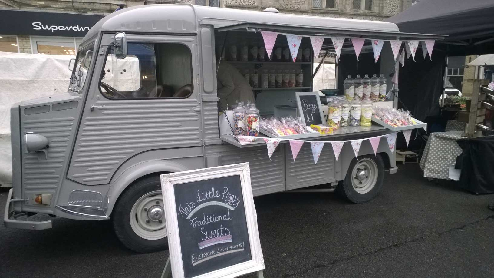 6bc05c3a4f1c55 The Piggy Sweets van has been used for the last 2 years as a mobile  Old  Style  Sweet Shop at markets